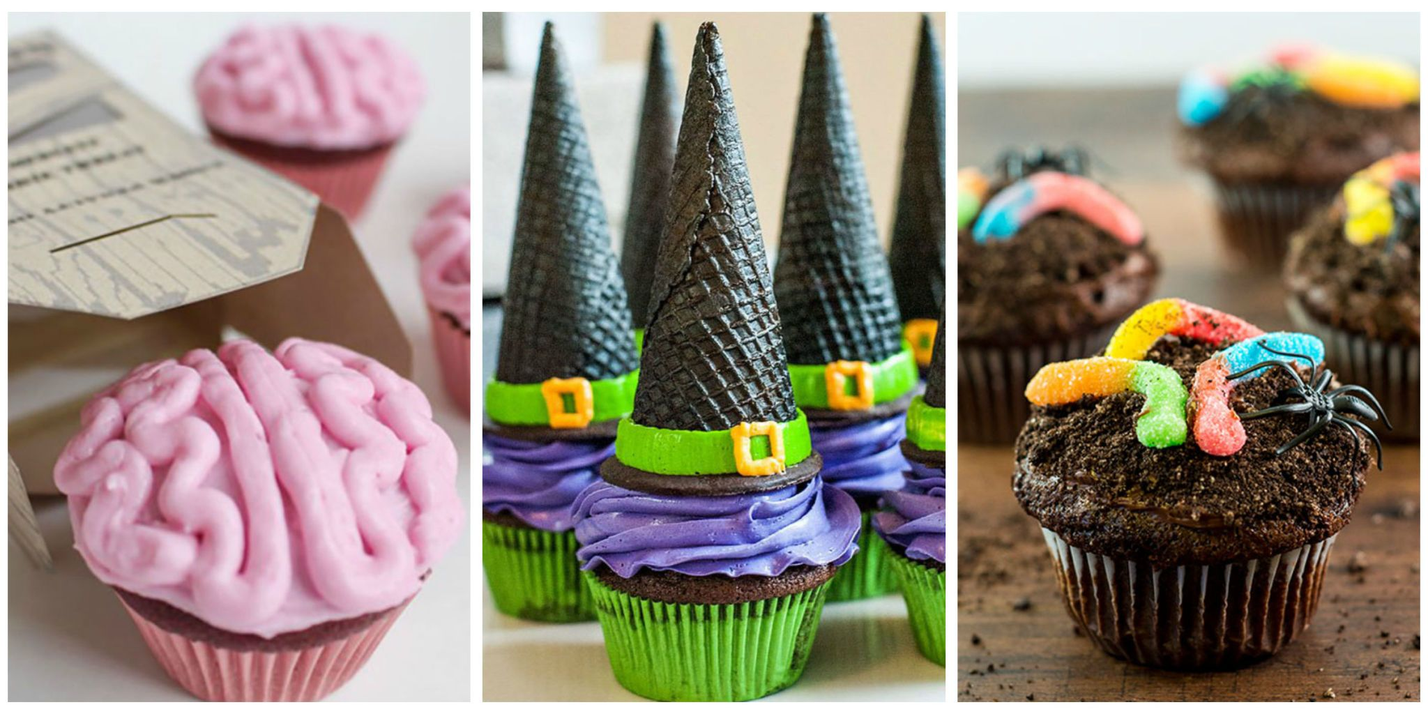 image & 16 Easy Halloween Cupcake Recipes - Halloween Cupcake Decorating Ideas