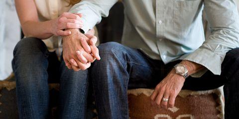 Arm, Leg, Finger, Denim, Trousers, Dress shirt, Sitting, Jeans, Shirt, Hand,