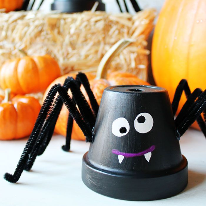halloween crafts for kids. Courtesy of Creative Green Living. Flower Pot Spiders & 32 Easy Halloween Crafts for Kids - Best Family Halloween Craft Ideas