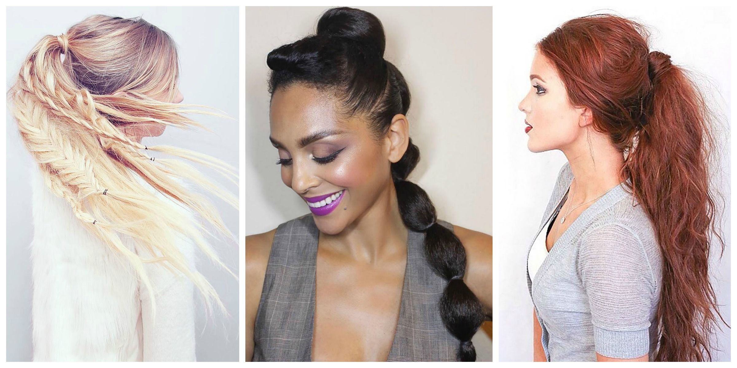 Groovy Ponytail Hairstyles 5 Easy Ponytail Looks For The Work Week Natural Hairstyles Runnerswayorg