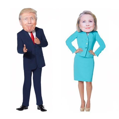 Giant Head Smiling Hillary and trump Mask