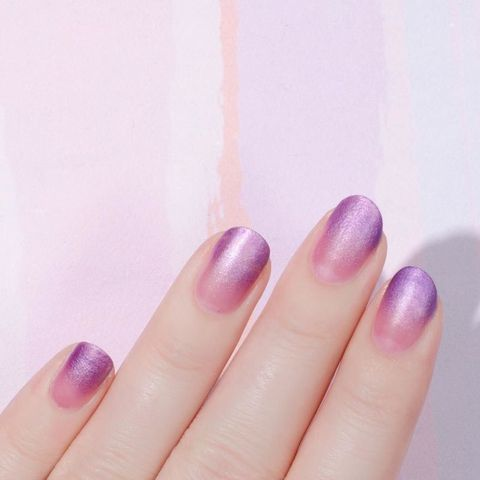 """<p>Make an ombre manicure really shine with <a href=""""https://www.instagram.com/p/BJuBve3BFA7/"""" target=""""_blank"""">shimmery polish</a> (it makes it that much easier to hide any mess-ups).</p>"""
