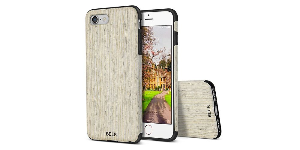 Belk Scratch-Resistant Rubber and Wood iPhone 7 Case