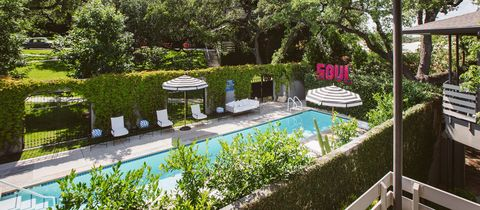 """<p><a href=""""http://hotelsaintcecilia.com/"""">This secluded oasis of a hotel</a> is the perfect backdrop for a girls' weekend, and while there's no """"formal"""" hotel package for bachelorettes, there's a pool, an awesome lounge, and plenty of drinks. Translation: Something for everyone.</p>"""