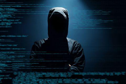 hacking man