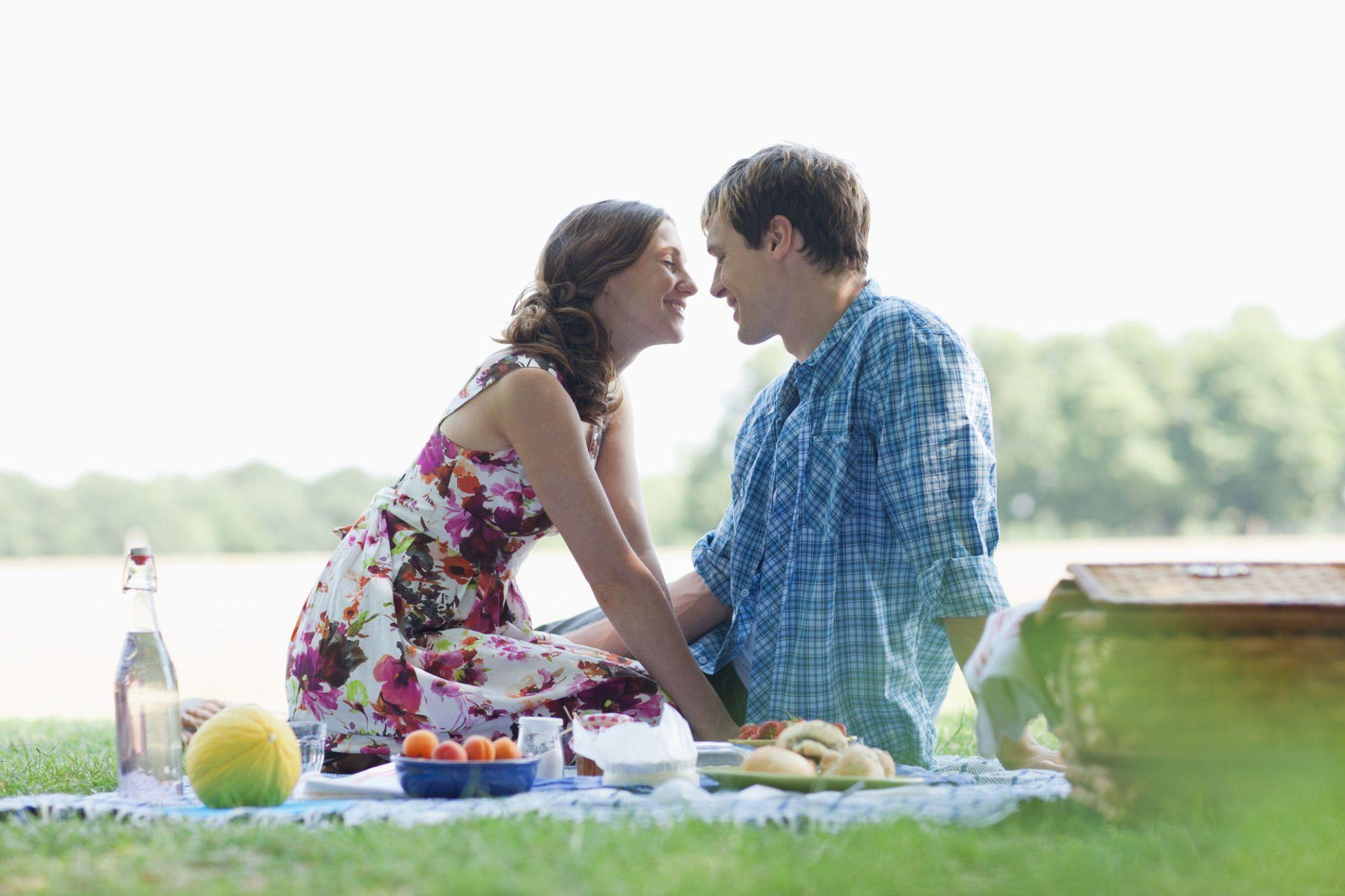 Mature couple picnic sex fun