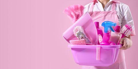 Collar, Dress shirt, Pink, Magenta, Lavender, Purple, Basket, Home accessories, Present, Storage basket,
