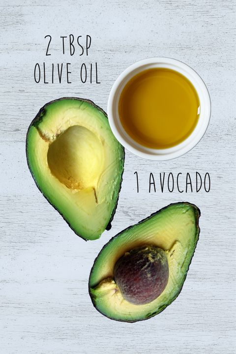 "<p><strong data-redactor-tag=""strong"" data-verified=""redactor"">Why it works: </strong>Avocado is full of&nbsp;nourishing oils, but since the mask is heavy, it's best for thick hair.&nbsp;<strong data-redactor-tag=""strong"" data-verified=""redactor"">How to do it:</strong> Mash up the avocado and&nbsp;olive oil, or for a smoother consistency, puree them in a food processor. (Either way, the olive oil makes the avocado easier to spread.) Work the mixture&nbsp;through your strands&nbsp;with a wide-tooth comb and tie up your hair&nbsp;loosely with a clip. ""It can be pretty drippy and messy,"" says Buckett, who recommends swaddling your head with plastic wrap. In addition to taming&nbsp;mess, the plastic wrap traps heat and&nbsp;helps the ingredients penetrate. Wait 30 minutes before washing&nbsp;it out.&nbsp;<strong data-redactor-tag=""strong"" data-verified=""redactor"">What you'll get:</strong> Smooth&nbsp;hair with extra&nbsp;shiny oomph.</p>"