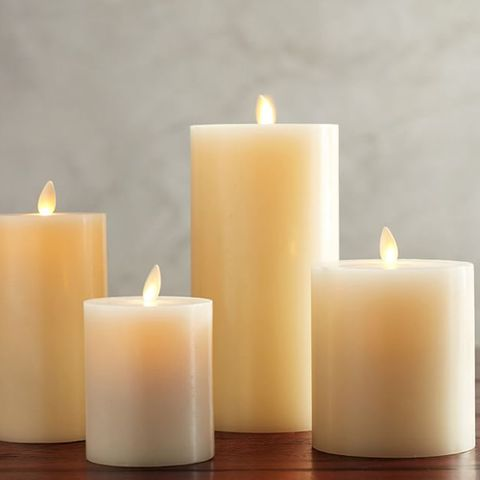 Pottery Barn Premium Flickering Flameless Wax Pillar Candle