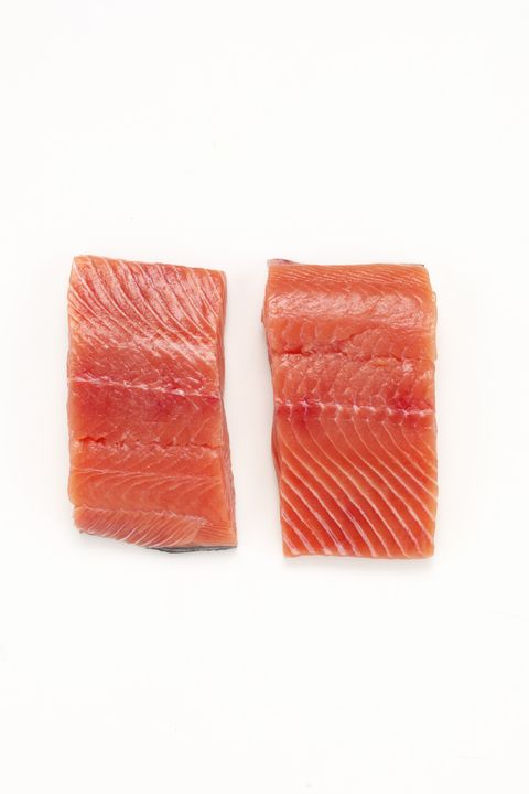 "<p><strong data-redactor-tag=""strong"">Why it's bad</strong>: If you're doubling up your salmon intake because of all the amazing health benefits of those omega-3 fatty acids, you need to consider if you're buying wild caught or farm-raised. Farmed salmon&nbsp;are raised on an unnatural diet of grains, antibiotics, and other drugs, leaving the fish with gray flesh, which is then pinkened with <a href=""http://articles.mercola.com/sites/articles/archive/2013/07/10/banned-foods.aspx"" target=""_blank"">synthetic astaxanthin</a> made from petrochemicals.&nbsp;<span data-redactor-tag=""span"" data-verified=""redactor""></span></p>"