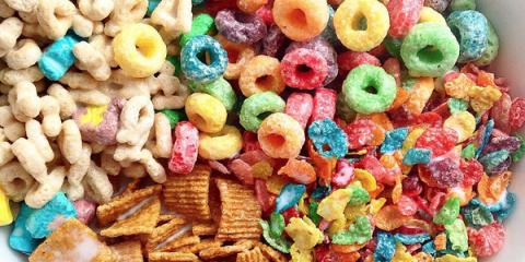 Food, Sweetness, Cuisine, Confectionery, Snack, Breakfast cereal, Vegetarian food, Mixture, Junk food, Wicker,