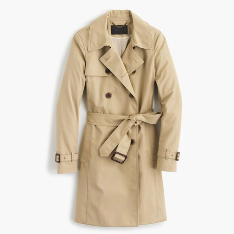 j. crew icon trench in beige japanese cotton