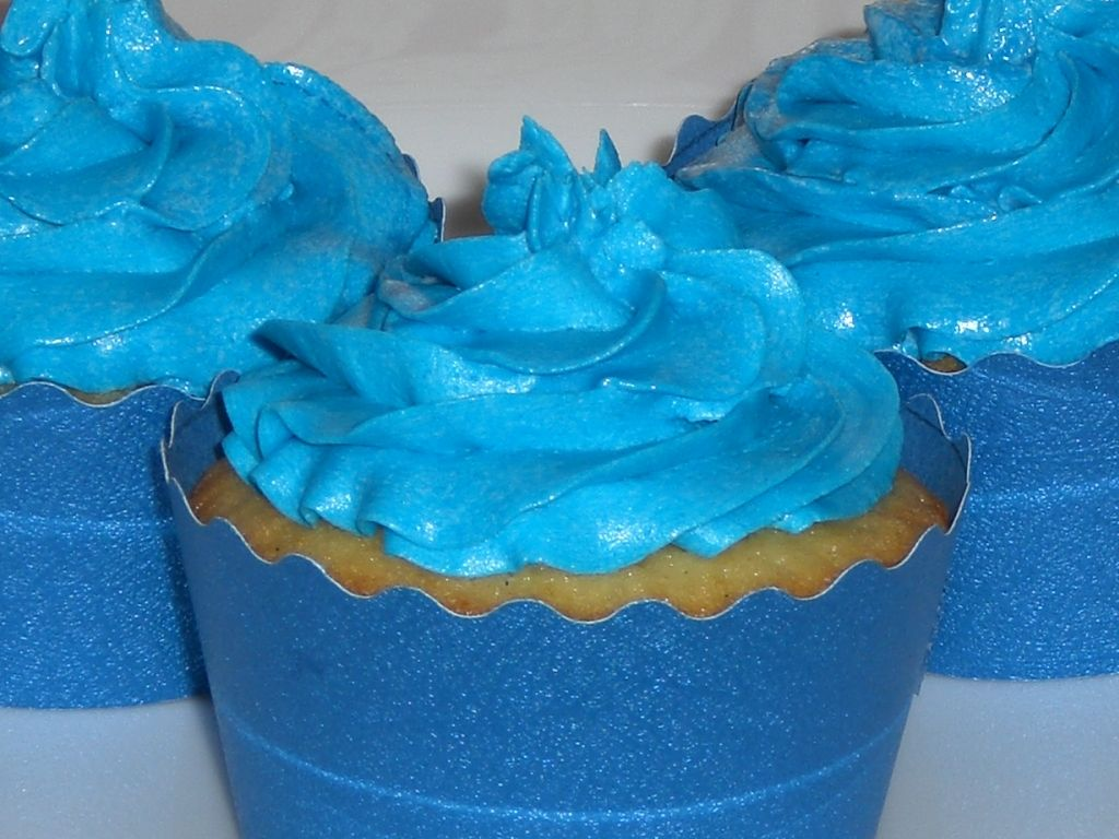 """<p>Nothing says, """"It's a boy!"""" quite like the """"It's a boy!"""" bunting and stork signs taped to every nonmoving surface at a baby shower, but Cookie Monster-blue buttercream is a close second. However, when people avoided grabbing a batch of cupcakes at a party recently, we learned an important fact: Fear of Blue Mouth*is real.</p><p><em data-redactor-tag=""""em"""" data-verified=""""redactor"""">*That's the official term for that moment when you bite into a food coloring-rich frosting and your teeth, gums and tongue are instantly stained, making it look like you went savage on Smurf Village.</em></p>"""