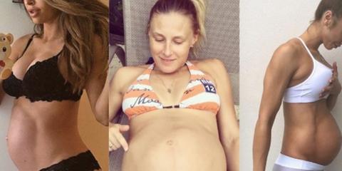 pregnant women six packs