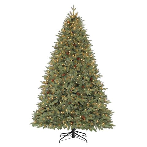 Holiday Living 7.5-ft Pre-Lit Hayden Pine Artificial Christmas Tree