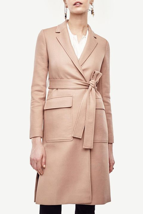ann taylor camel duster coat