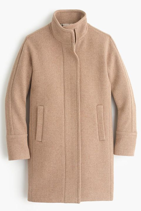 j. crew stadium cloth wool cocoon coat in camel