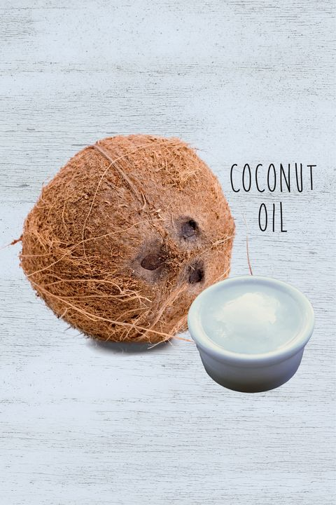 "<p><strong data-redactor-tag=""strong"" data-verified=""redactor"">Why it works: </strong>Coconut oil smells delish and delivers a heap of fatty acids to amp up your&nbsp;hair's gloss. <strong data-redactor-tag=""strong"" data-verified=""redactor"">How to do it:</strong> Run a tad through your ends to make them smooth and supple. If you use just a touch, you can leave it in your&nbsp;hair, letting your&nbsp;ends&nbsp;benefit from a long-term moisture boost.  For an all-over treatment for parched strands, comb a few tablespoons through your whole head,&nbsp;and leave it in for at&nbsp;least 20 minutes&nbsp;before shampooing.&nbsp;<strong data-redactor-tag=""strong"" data-verified=""redactor"">What you'll get:</strong> Smooth—instead of straw-like—shiny hair.&nbsp;</p>"