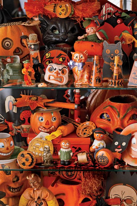 "<p>The origins of the holiday we now call Halloween can be traced back to the <a href=""http://www.history.com/topics/halloween/history-of-halloween"" target=""_blank"">Celtic festival of Samhain</a>, when folks would light bonfires and dress up in costumes on All Hallows' Eve, to ward off spirits&nbsp;the night before All Saints' Day on November 1. It wasn't until the early 20th century that it became the spooky affair that we know and love today in America, celebrated with&nbsp;parties, parades,&nbsp;treats, and costumes. Pictured here are rare&nbsp;Halloween collectibles from the early&nbsp;20th century, such as noisemakers, novelty candy containers, toys, and costumes that date from 1905, which can range&nbsp;upward in value to $4,000 today.&nbsp;</p>"
