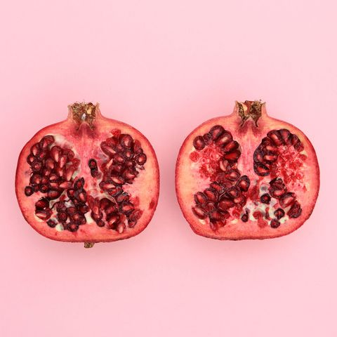 Natural foods, Pomegranate, Red, Produce, Fruit, Vegan nutrition, Ingredient, Accessory fruit, Peach, Local food,