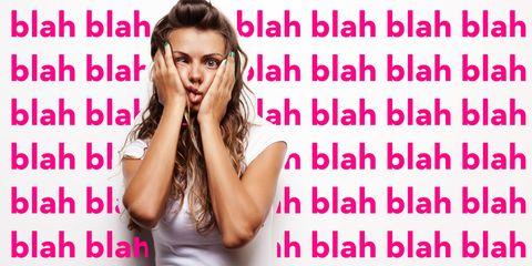 Finger, Shoulder, Elbow, Pink, Wrist, Magenta, Fashion accessory, Font, Eyelash, Bracelet,