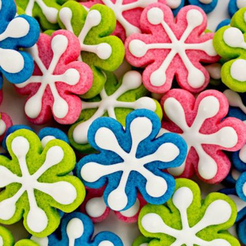 "<p>These bright snowflake cookies may not be traditional, but they'll add a fun pop of color to your holiday cookie tray!&nbsp;</p><p><strong data-verified=""redactor"" data-redactor-tag=""strong"">Get the recipe at <a href=""http://thebearfootbaker.com/2012/12/simple-colorful-snowflakes-cookies/"" target=""_blank"">The Bear Foot Baker</a>.&nbsp;</strong><br></p>"