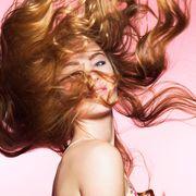 Hair, Beauty, Blond, Pink, Fun, Brown hair, Long hair, Mouth, Photography, Cg artwork,