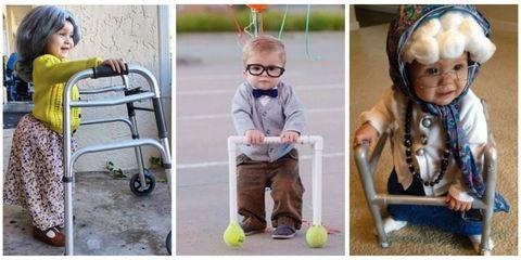 Babies dressed as old people