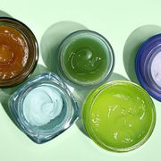 Green, Product, Glass, Food coloring,