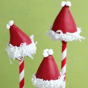 Food, Fictional character, Dessert, Christmas, Santa claus, Snowman, Spoon, Frozen dessert, Confectionery,
