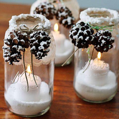 mason jar gifts candle holder