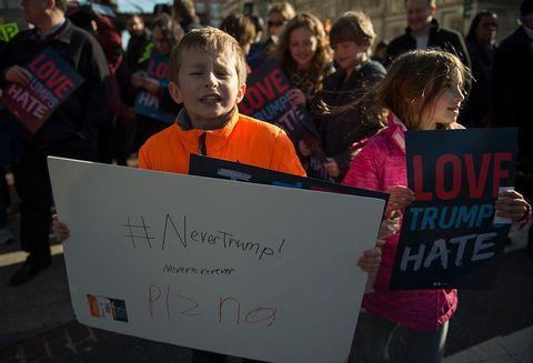 kids clinton anti trump