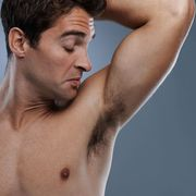 guy smelling pits
