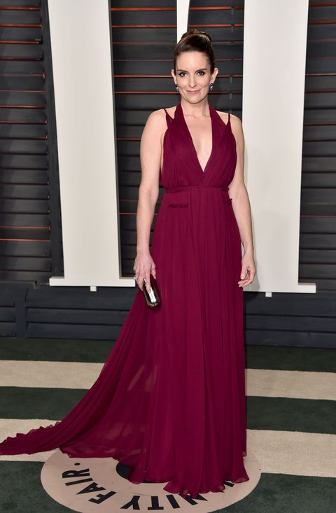 """<p>In a&nbsp;<a href=""""http://www.out.com/entertainment/popnography/2011/04/tina-fey-on-what-fashion-photo-shoots-are-really-like-.html"""" target=""""_blank"""" data-tracking-id=""""recirc-text-link"""">passage from her book <em data-redactor-tag=""""em"""" data-verified=""""redactor"""">Bossypants</em></a>, Fey captures the absurdity of the sample and the even greater absurdity of trying to stuff yourself into one. """"They are from the runway, and they were made to fit runway models,"""" she wrote. """"Sometimes I can actually fit in a sample size because at 5'4"""" I have the waist size of a 7-foot model."""" LOL. Sort of.&nbsp;</p>"""