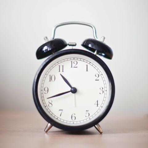 "<p>Even if sleeping in on Saturday sounds like the greatest idea in the world, keeping a consistent bedtime and wake time — even on weekends — <a href=""https://sleep.org/articles/get-sleep-schedule/"" target=""_blank"">regulates your body's internal clock</a>, which helps you fall asleep and stay down for the count.<br></p>"