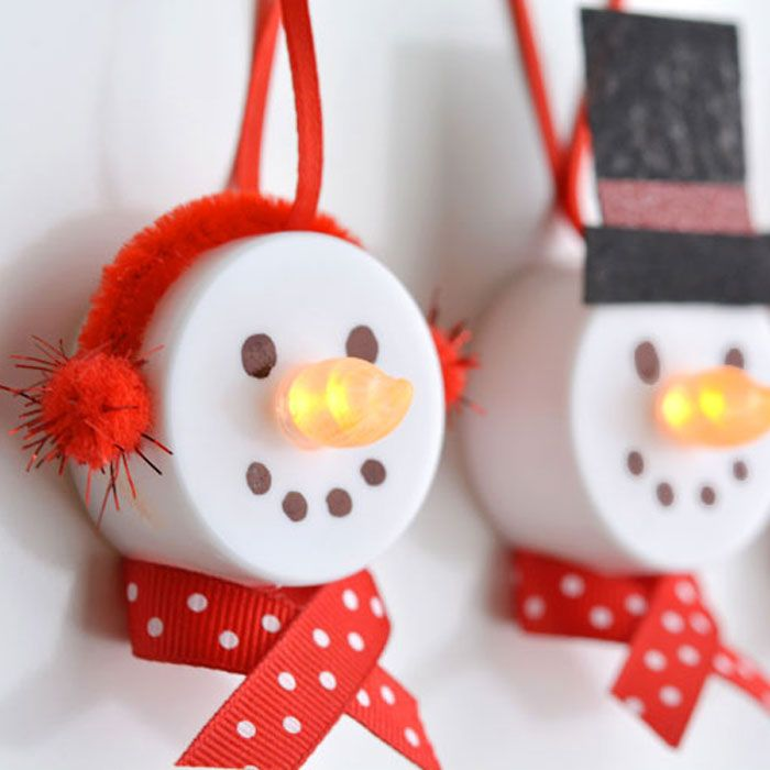 Christmas Craft Ornament Ideas Part - 39: 59 Unique DIY Christmas Ornaments - Easy Homemade Ornament Ideas