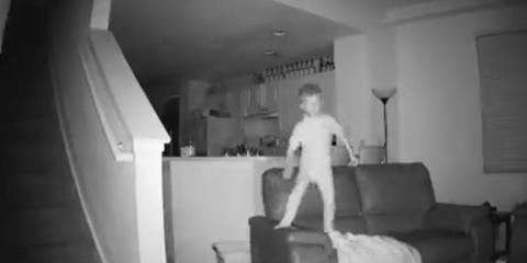 security footage kid