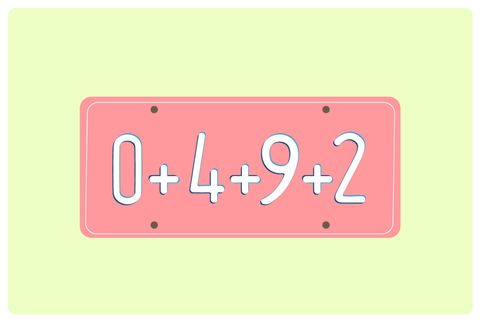 "<p>Add all the numbers you see on license plates until you get to 100. You can make it a competition by letting kids take turns ""claiming"" the plate of each car that passes or gets passed. First one to 100 wins.</p>"