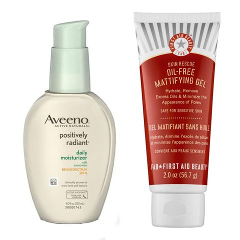 "<p>Every day, use a serum or lotion with one or more spot-fading ingredients like lineolic acid, kojic acid, licorice, or soy. (Try Aveeno Positively Radiant Daily Moisturizer SPF 30, $14.99; <a href="" http://www.target.com/p/aveeno-positively-radiant-daily-moisturizer-with-broad-spectrum-spf-30-2-5-fl-oz/-/A-10800934"" target=""_blank"" data-tracking-id=""recirc-text-link"">target.com</a>.) If your marks are pink or red in color, look for green tea, chamomile, or feverfew on the product's ingredient list, all of which will calm irritation.  (Try First Aid Beauty Skin Rescue Daily Face Cream, $22; <a href=""http://www.sephora.com/skin-rescue-daily-face-cream-P257524?skuId=1244862&icid2=products%20grid:p257524"" target=""_blank"" data-tracking-id=""recirc-text-link"">sephora.com</a>.)</p>"