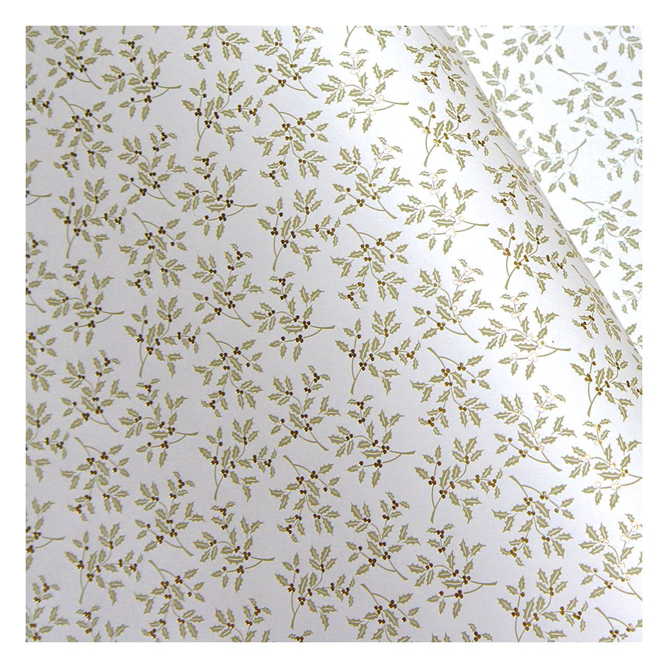 "<p>This holiday plant doesn't scream ""Christmas!"" when done in an elegant cream and gold color palette. (Holly Bisque Letterpress Foil, $5.50 per sheet&#x3B; <a href=""http://www.luxepaperie.com/tassottipaper3.html"" data-tracking-id=""recirc-text-link"" target=""_blank"">luxepaperie.com</a>)</p>"