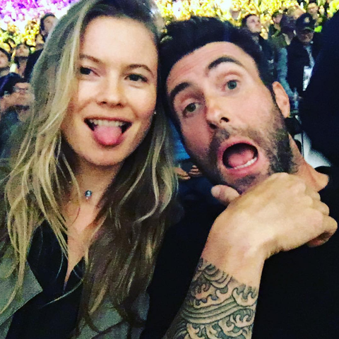 "<p><strong data-redactor-tag=""strong"" data-verified=""redactor"">Occupation:</strong> Lead singer of Maroon 5<br><strong data-redactor-tag=""strong"" data-verified=""redactor"">Together since:</strong> 2012, married since 2014 <br><strong data-redactor-tag=""strong"" data-verified=""redactor"">How they met:&nbsp;</strong><span class=""redactor-invisible-space"" data-verified=""redactor"" data-redactor-tag=""span"" data-redactor-class=""redactor-invisible-space"">Reportedly at the&nbsp;2011 Victoria's Secret Fashion Show<span class=""redactor-invisible-space"" data-verified=""redactor"" data-redactor-tag=""span"" data-redactor-class=""redactor-invisible-space"">, where Adam was performing (and then dating fellow VS model Anne V)</span></span><br><strong data-redactor-tag=""strong"" data-verified=""redactor"">Kids: </strong><a href=""http://www.elle.com/culture/celebrities/news/a39499/behati-prinsloo-adam-levine-post-first-dusty-rose-levine-photo/"" target=""_blank"" data-tracking-id=""recirc-text-link"">Dusty Rose</a>, born in September</p>"