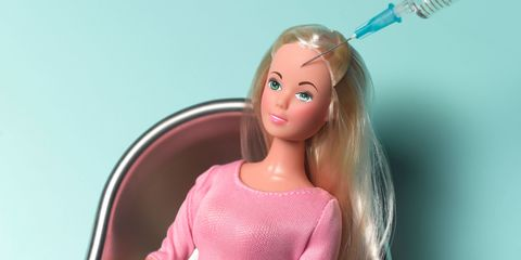 Lip, Hairstyle, Toy, Forehead, Shoulder, Joint, Doll, Pink, Barbie, Eyelash,