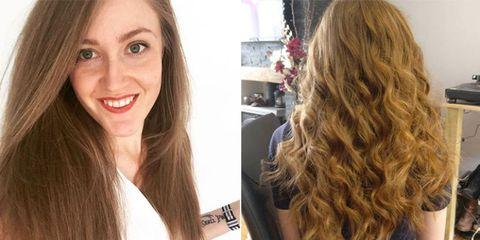 Lip, Brown, Hairstyle, Eyebrow, Eyelash, Tooth, Beauty, Brown hair, Long hair, Hair care,