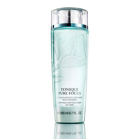 "<p>Give the bottle a shake to disperse the grease-absorbing mixture of zinc gluconate, which helps to cut excess sebum, and salicylic acid to boost cell turnover and prevent clogged pores. (Lancôme Tonique Pure Focus Matifying Purifying Toner, $26; <a href=""http://www.lancome-usa.com/skin-care/cleansers-and-toners/toners/tonique-pure-focus/990787.html?cgid=toners#cm_mmc=cpc-_-googleSearchBrand-_-Search+-+Generic+-+Skincare+Cleanser+-+Ph_Cleanser+-+Product+-+Toners-_-kw%3A+toner&gclid=CLPSuYiCodACFd5MDQodTg4I0w&start=5"" target=""_blank"" data-tracking-id=""recirc-text-link"">lancome-usa.com</a>)</p><p><strong data-verified=""redactor"" data-redactor-tag=""strong"">RELATED: <a href=""http://www.redbookmag.com/beauty/makeup-skincare/g3646/celebrate-the-olympics-with-a-brazilian-superfood-beauty-regimen/"" target=""_blank"" data-tracking-id=""recirc-text-link"">7 Brazilian Superfoods to Boost Your Skin Care Regimen</a><span class=""redactor-invisible-space""><a href=""http://www.redbookmag.com/beauty/makeup-skincare/g3646/celebrate-the-olympics-with-a-brazilian-superfood-beauty-regimen/""></a></span></strong><br></p>"