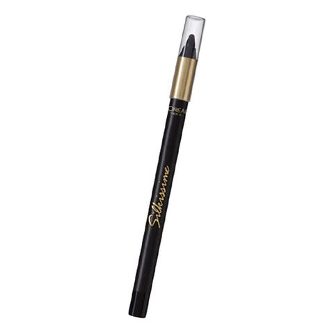 "<p>To define your eyes, trace a deep brown or black pencil like L'Oréal Paris Infallible Silkissime Eyeliner ($8.99; <a href=""http://www.lorealparisusa.com/products/makeup/eye/eyeliner/infallible-silkissime-eyeliner.aspx?shade=Black"" target=""_blank"" data-tracking-id=""recirc-text-link"">lorealparisusa.com</a>)<span class=""redactor-invisible-space""></span> along your top lash line. For an extra-sultry effect, add a slight upward tick on the outer corners.</p><p><br></p><p><strong data-verified=""redactor"" data-redactor-tag=""strong"">RELATED: <a href=""http://www.redbookmag.com/beauty/makeup-skincare/g3702/ways-to-wear-eyeliner-trends-2016/"" target=""_blank"" data-tracking-id=""recirc-text-link"">26 New Eyeliner Styles You Need to Know</a><span class=""redactor-invisible-space""><a href=""http://www.redbookmag.com/beauty/makeup-skincare/g3702/ways-to-wear-eyeliner-trends-2016/""></a></span></strong><br></p>"