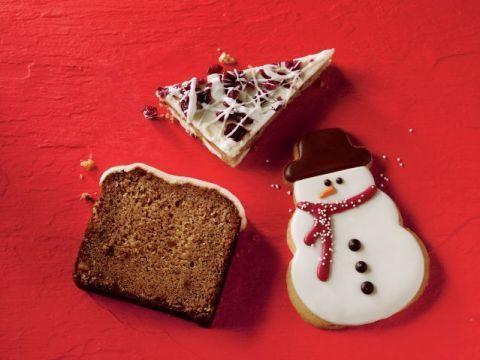 Snowman, Food, Finger food, Cuisine, Ingredient, Bread, Baked goods, Dessert, Brown bread, Snack,