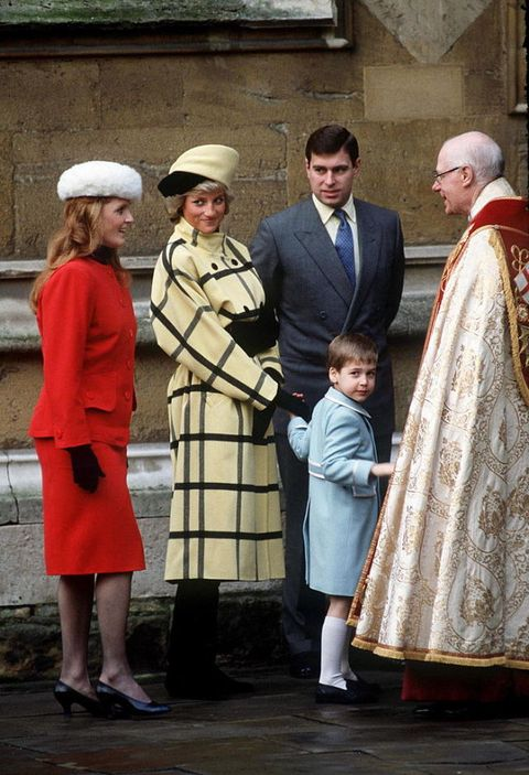 <p>Hats are a must for women, as seen in this very '80s photo of Princess Diana and Sarah Ferguson, the Duchess of York. While Diana's jacket might not be back in style for a while, we do think the young Prince William looks the most timeless of all. </p>