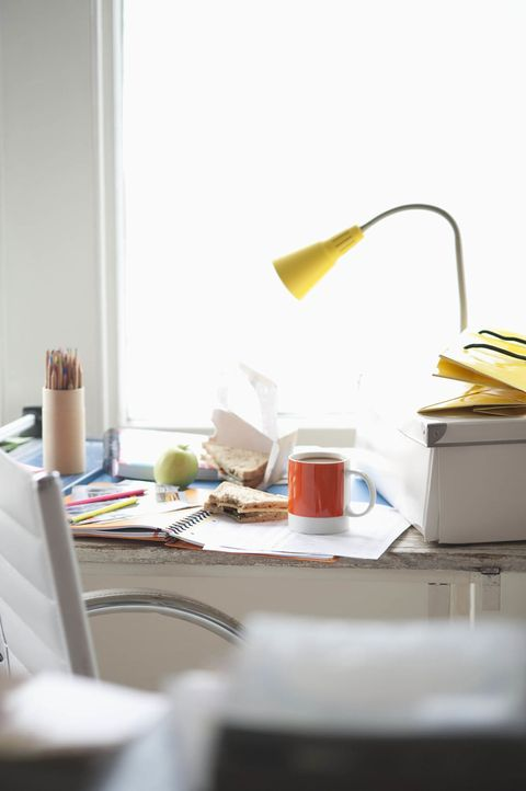 """<p>If you're constantly turning down plans, your <a href=""""http://www.housebeautiful.com/lifestyle/news/a5563/desk-clutter-makes-you-tired/"""" target=""""_blank"""" data-tracking-id=""""recirc-text-link"""">disorganized desk</a> might be to blame. According to research from <a class=""""body-el-link standard-body-el-link"""" href=""""https://paw.princeton.edu/issues/2015/06/03/pages/9642/index.xml"""" target=""""_blank"""">Princeton University</a>, visual clutter competes with your brain's ability to pay attention and tires out your cognitive functions, making you more mentally and physically exhausted.</p>"""