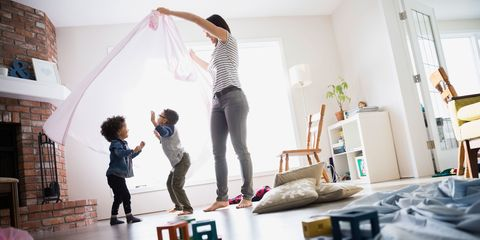 "<p>Despite the fact that 63 percent of American kids live in homes with two working parents, <a href=""http://www.pewresearch.org/fact-tank/2016/10/10/most-americans-say-children-are-better-off-with-a-parent-at-home/"" data-tracking-id=""recirc-text-link"" target=""_blank"">most parents say that kids are better of with one parent staying home</a> to care for them full-time, according to a recent Pew Research poll. Surprisingly, this is particularly true for young moms, with the majority of those aged 30 and under saying their child needed a parent at home — and only two percent thought it should be dad. This disconnect is doubtless a major contributor to mom guilt, but take heart, working moms — a large study done last year shows that not only do <a href=""http://www.nytimes.com/2015/05/17/upshot/mounting-evidence-of-some-advantages-for-children-of-working-mothers.html?_r=0"">kids who grow up with working moms do just as well</a> as those with stay-at-home moms, but they may gain some additional benefits from the experience. Bottom line? Kids who are loved and cherished can thrive in a variety of family situations, so do what's best for your family and don't worry about other people.