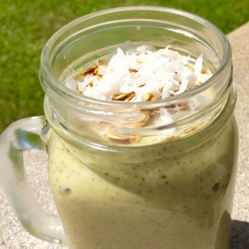 "<p><strong data-redactor-tag=""strong"">Ingredients<br></strong>3 frozen very ripe bananas (ideally, freeze them when they have some brown spots on the skin)<br>1 avocado<br>1 ½ cups nonfat vanilla Greek yogurt<br>1 cup green tea, brewed and cold<br>¼ cup unsweetened almond milk<br>1 tbsp chia seeds<br>1 tsp pure vanilla extract<br>lime juice, to taste